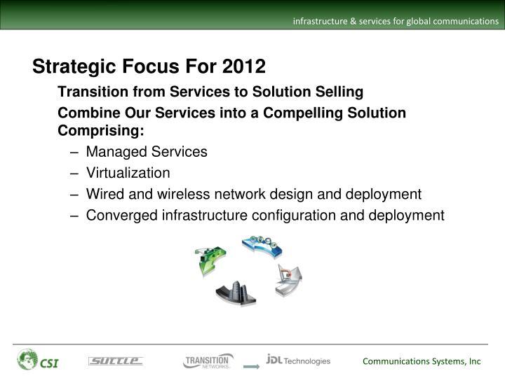 Strategic Focus For 2012