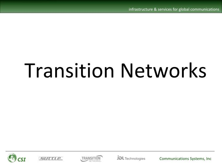Transition Networks