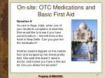 on site otc medications and basic first aid