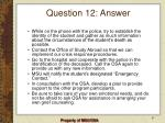 question 12 answer