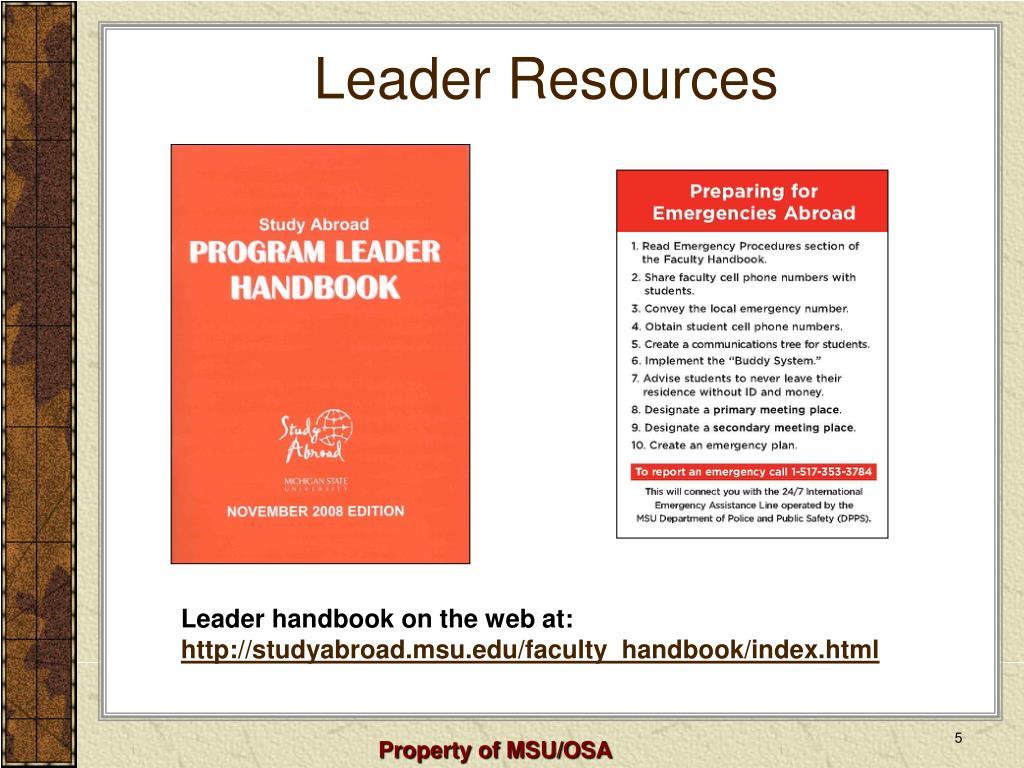 Leader Resources
