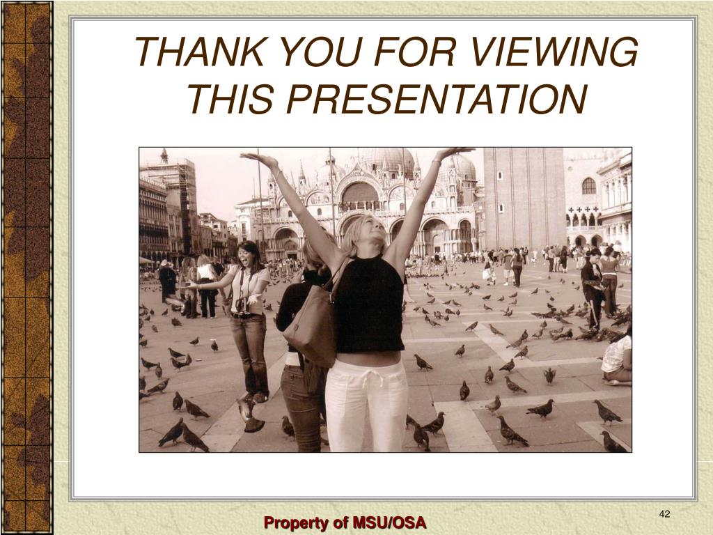 THANK YOU FOR VIEWING THIS PRESENTATION