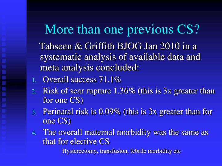 More than one previous CS?
