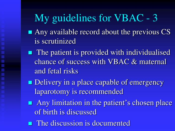 My guidelines for VBAC - 3