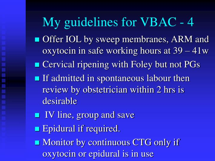My guidelines for VBAC - 4