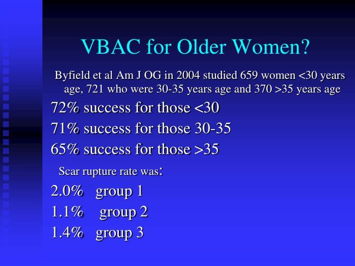 VBAC for Older Women?