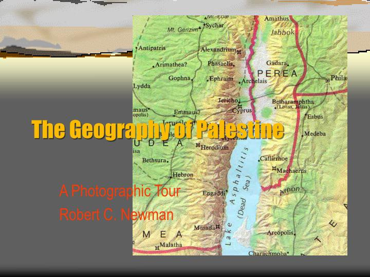 the geography of palestine n.