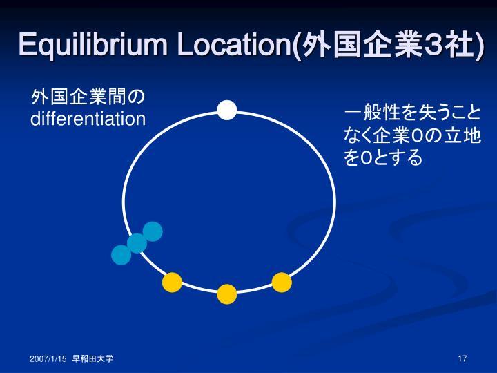 Equilibrium Location(