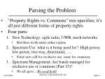 parsing the problem