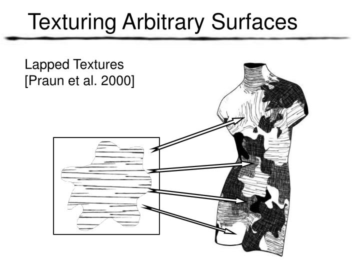 Texturing Arbitrary Surfaces