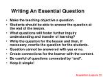 writing an essential question