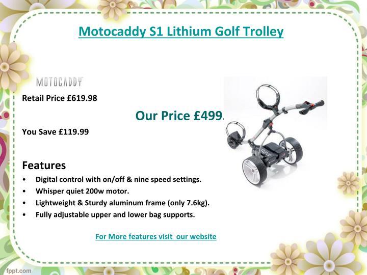 Motocaddy s1 lithium golf trolley