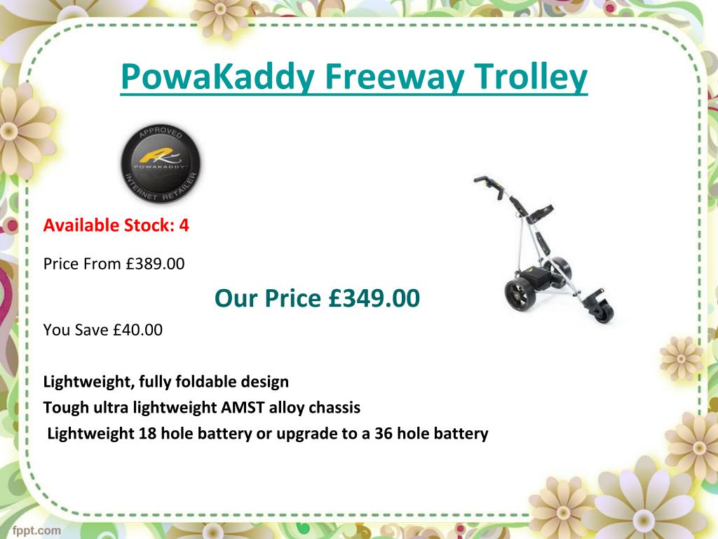PPT - electric golf trolley - special offers PowerPoint
