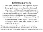 referencing work