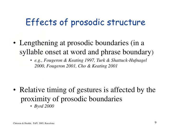 Effects of prosodic structure
