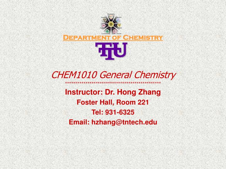 Department of Chemistry