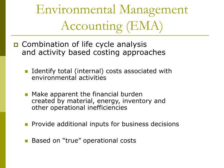 Environmental management accounting ema