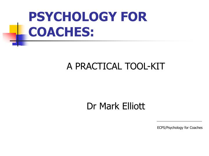 psychology for coaches n.