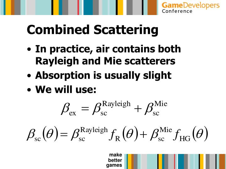 Combined Scattering
