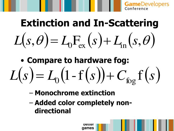 Extinction and In-Scattering
