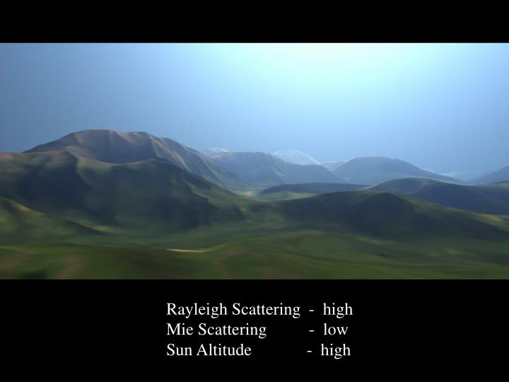 Rayleigh Scattering  -  high