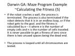 darwin ga maze program example calculating the fitness 5