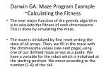 darwin ga maze program example calculating the fitness