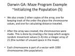 darwin ga maze program example initializing the population 5