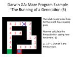 darwin ga maze program example the running of a generation 3