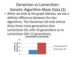 darwinian vs lamarckian genetic algorithm maze data 2