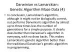darwinian vs lamarckian genetic algorithm maze data 4