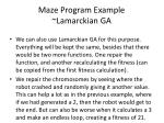 maze program example lamarckian ga