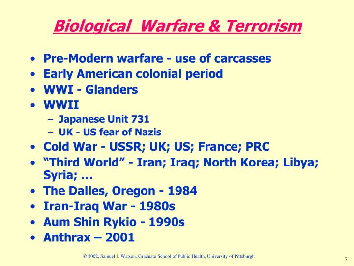 Biological  Warfare & Terrorism