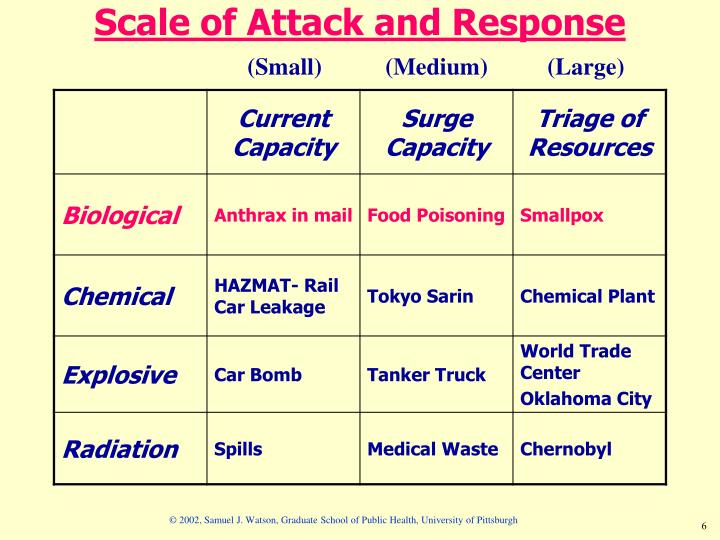 Scale of Attack and Response
