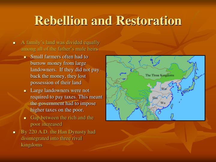 Rebellion and Restoration