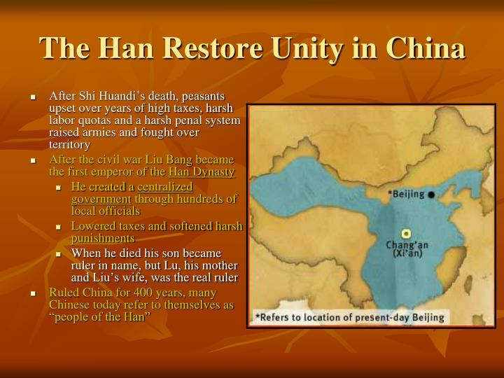 The Han Restore Unity in China