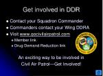 get involved in ddr