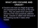 what are cocaine and crack