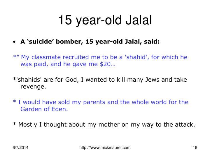 15 year-old Jalal