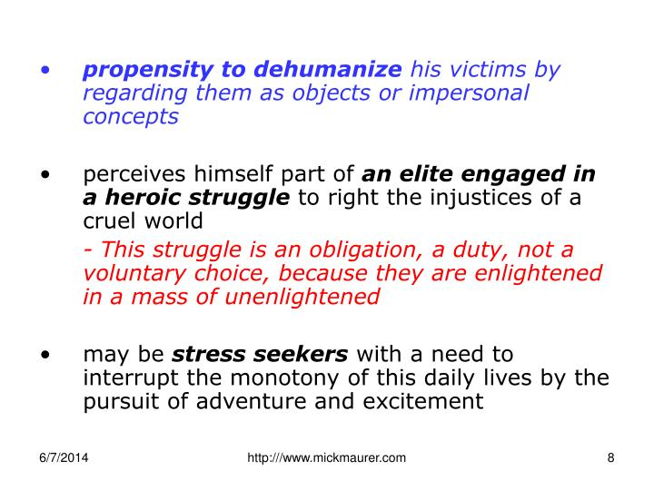 propensity to dehumanize
