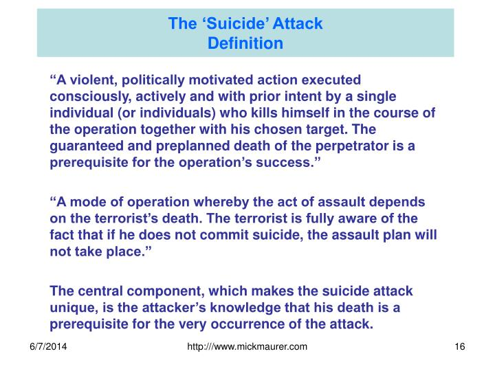 The 'Suicide' Attack