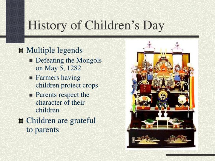 History of Children's Day