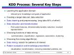 kdd process several key steps