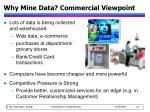 why mine data commercial viewpoint