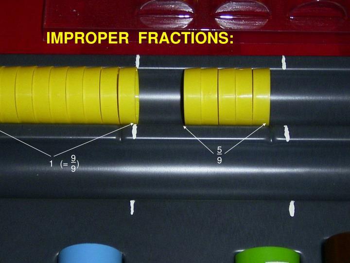 IMPROPER  FRACTIONS: