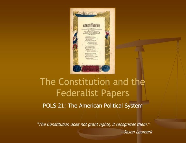 the constitution and the federalist papers n.