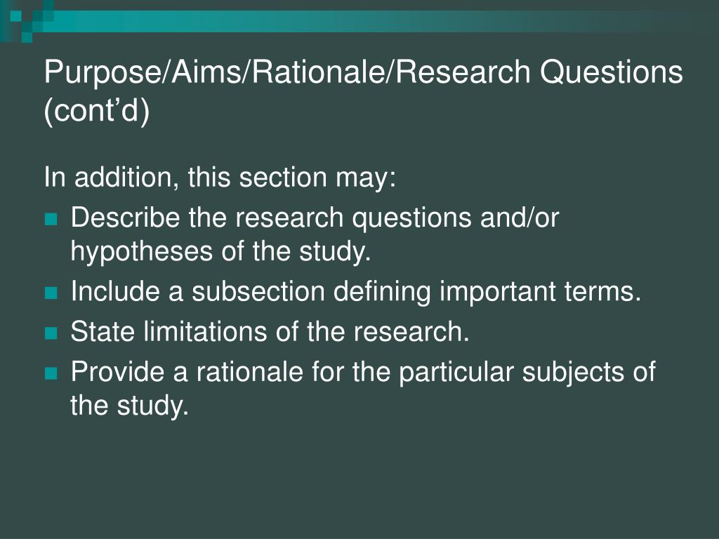 research questions section of thesis A great way of getting the data you need for your dissertation research question is by interviewing people you can approach interviewing in a number of ways the methods you choose depend on what you're trying to find out.