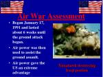 air war assessment
