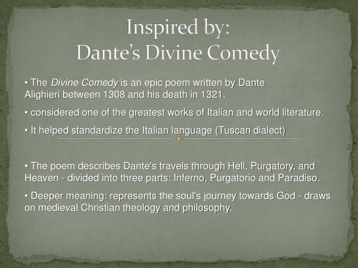 inspired by dante s divine comedy n.