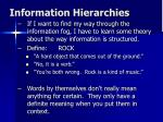 information hierarchies